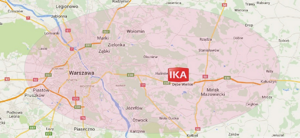 Mapa montażu IKA Woźnica