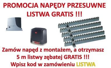 Promocja Listwa zębata GRATIS do zestawów przesuwnych z montażem